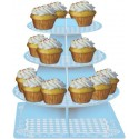 Garçon - Plateau étagé à cupcake bleu
