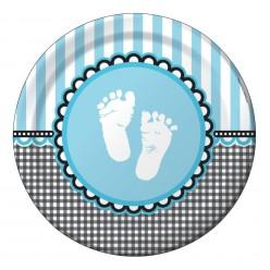 Pieds de bébé - Assiette 8,75''