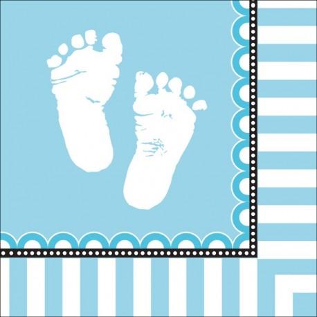 Pieds de bébé - Serviettes de table 3 plis
