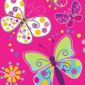 Papillons- Serviettes de table 3 plis