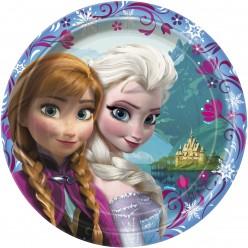 Reine des neiges - Assiette ronde 9''