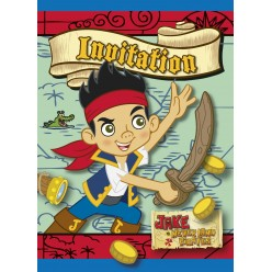Jake et les pirates - Invitations