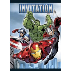 Les Avengers - Invitations