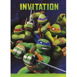 Tortues ninja - Invitations