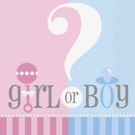 Gender Reveal - Serviettes de table