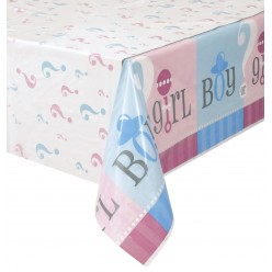 Gender Reveal - Nappe de table en plastique
