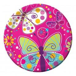 Papillons - Assiette ronde 9''