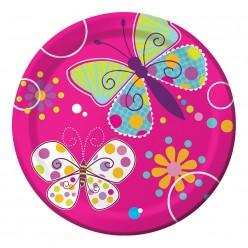 Papillon - Assiette 7''