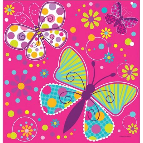 Papillons- Nappe de table en plastique