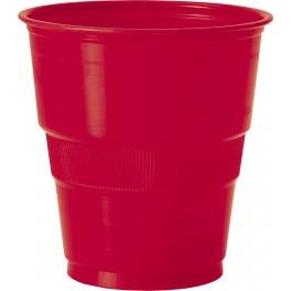 Verre plastique 9 oz - Rouge