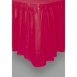 Jupe de table plastique 9 oz - Rouge