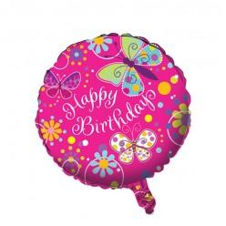 Papillons - Ballon Métallique